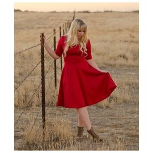 LuLaRoe Poppy Red Nicole Dress